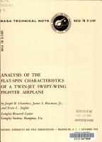 Analysis of the Flat spin Characteristics of a Twin jet Swept wing Fighter Airplane PDF