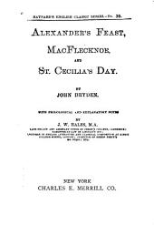 Alexander's Feast, MacFlecknoe, and St. Cecilia's Day