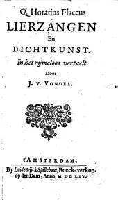 Q. Horatius Flaccus Lierzangen en dichtkunst