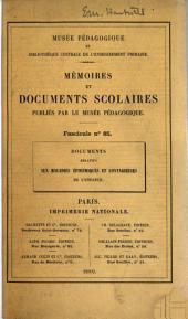 Documents relatifs aux maladies épidémiques et contagieuses de l'enfance: Décrets, arrêtés, circulaires, règlements, projet de loi