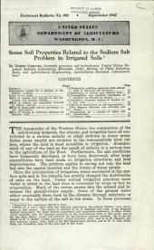 Some soil properties related to the sodium salt problem in irrigated soils: Volumes 901-925