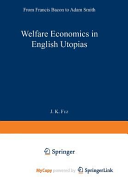 Welfare Economics in English Utopias