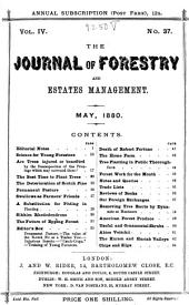 Forestry: A Journal of Forest and Estate Management, Volume 4