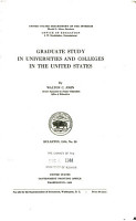 Graduate Study in Universities and Colleges in the United States PDF