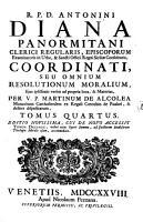 R P D  Antoninus Diana Panormitanus Clericus Regularis     Coordinatus  Seu Omnes Resolutiones Morales PDF
