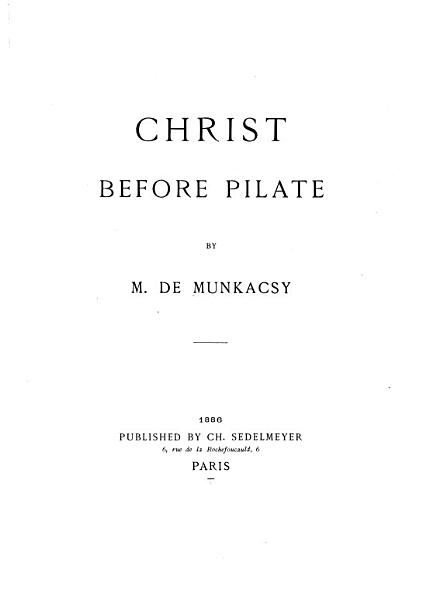 Download Christ Before Pilate Book