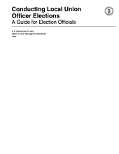 Conducting Local Union Officer Elections: A Guide for Election Officials