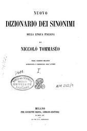 Nuovo dizionario dei sinonimi della lingua italiana: Volume 1