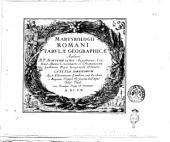 Martyrologii Romani tabulæ geographicæ authore R.P. Augustino Lubin Augustiniano combitur alumno concionatore et Christianissimi Galliarum regis geographo ordinario