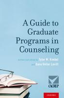 A Guide to Graduate Programs in Counseling PDF