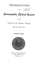 Transactions of the Hom  opathic Medical Society of the State of New York PDF