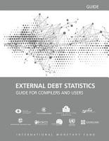 External Debt Statistics  Guide for Compilers and Users PDF