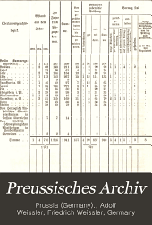 Preussisches Archiv: Sammlung der Gesetze und der das Rechtswesen betreffenden Verordnungen und Verfügungen Preussens und des Reiches