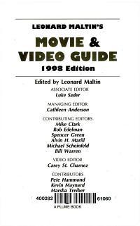 Leonard Maltin s Movie and Video Guide 1998 PDF