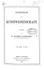 REPERTORIUM FUR KUNSTWISSENSCHAFT