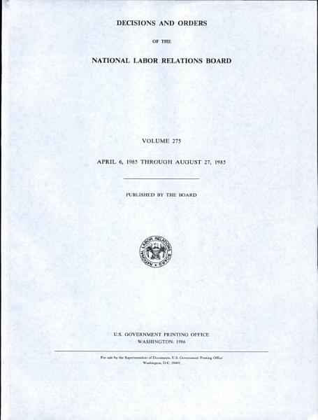 Download Decisions and Orders of the National Labor Relations Board Book