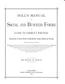 Hill's Manual of Social and Business Forms