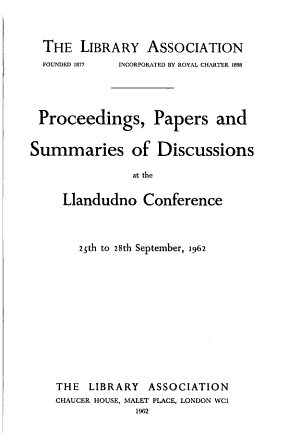 Proceedings, Papers and Summaries of Discussions at the ... Conference