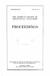 Proceedings of the American Society of Mechanical Engineers: Volume 29