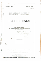 Proceedings of the American Society of Mechanical Engineers: Volume 28, Issue 2
