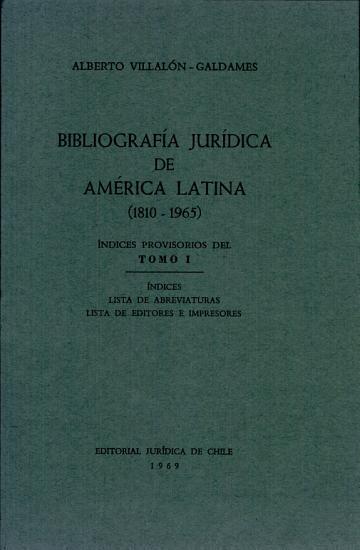Bibliograf  a jur  dica de Am  rica Latina  1810 1965 PDF