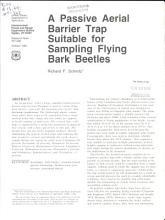A Passive Aerial Barrier Trap Suitable for Sampling Flying Bark Beetles PDF