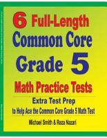 6 Full Length Common Core Grade 5 Math Practice Tests PDF