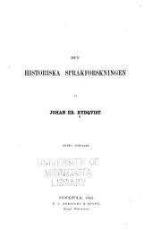 Den historiska språkforskningen