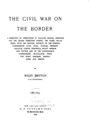 The Civil War on the Border