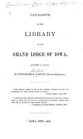 Catalogue of the Library: June 1, 1873