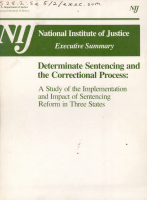 Determinate Sentencing and the Correctional Process PDF