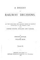 A Digest of Railway Decisions PDF