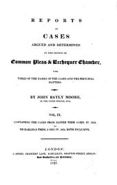 Reports of Cases Argued and Determined in the Courts of Common Pleas and Exchequer Chamber: With Tables of the Names of the Cases and the Principal Matters, Volume 9