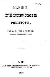 Manuel d'économie politique par J. F. Jules Pautet