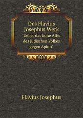Des Flavius Josephus Werk