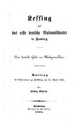 Lessing und das erste deutsche Nationaltheater in Hamburg