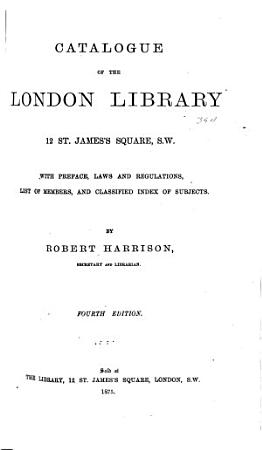 Catalogue of the London Library     PDF