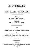 Dictionary of the Hausa Language PDF