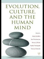 Evolution  Culture  and the Human Mind PDF