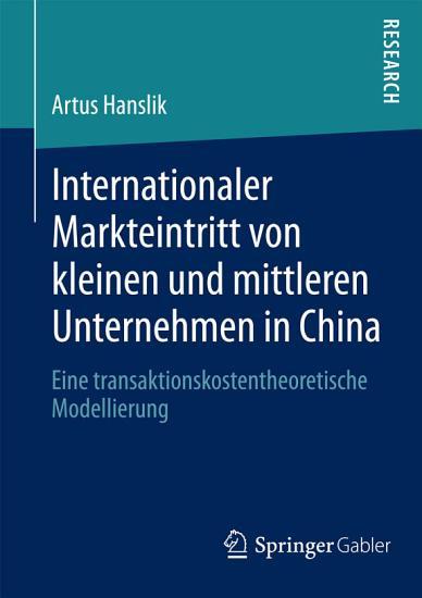 Internationaler Markteintritt von kleinen und mittleren Unternehmen in China PDF