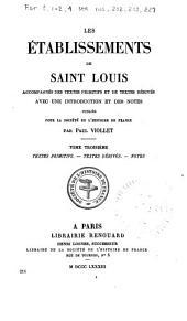 Les établissements de saint Louis: accompagnés des textes primitifs et de textes dérivés, avec une introduction et des notes, Numéro214