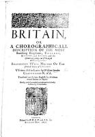 Britain  or a Chorographicall description of     England  Scotland and Ireland     Beautified with mappes     Translated     by Phil  mon Holland     Revised  amended  and enlarged  etc PDF