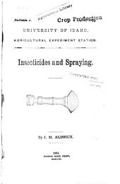 Insecticides and Spraying: Volumes 1-16