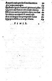 Le cose volgari de Joa[n] bruno Ariminense. Cioe: Sonetti. [163]. Canzone [4]. Capitoli. [16]. Barzellete. [23]. Stantie