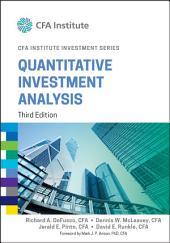 Quantitative Investment Analysis: Edition 3