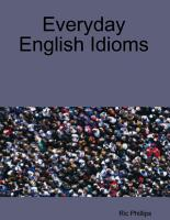 Everyday English Idioms PDF