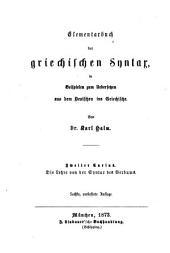 Anleitung zum Uebersetzen aus dem Deutschen ins Griechische: Band 2,Ausgabe 2