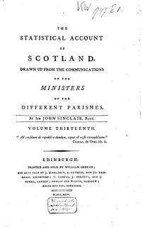 The Statistical Account of Scotland Book