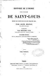 Histoire de l'Ordre royal et militaire de Saint-Louis