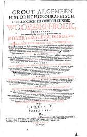 Groot algemeen historisch, geografisch, genealogisch, en oordeelkundig woorden-boek ...: Volume 3